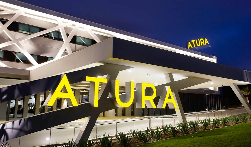 Atura external nightime